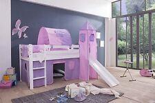 Turmgestell Vorhang für  Hochbett Kinderspielbett Kinderbett  4 Tlg, Cinderella