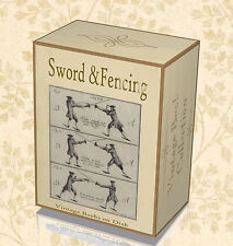 75 Rare Fencing Books on DVD Learn Swordmanship Skills Foil Sabre Sword Guard 25