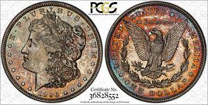 AVC- 1896 PROOF MORGAN DOLLAR PCGS PR61 CAC RAINBOW