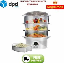 New! Russell Hobbs 21140 Three Tier 9L Food Rice Vegetable Egg Steamer 800W