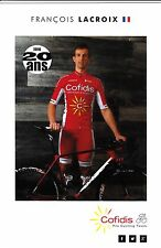 CYCLISME carte cycliste FRANCOIS LACROIX équipe COFIDIS 2016