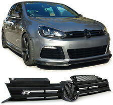 R20 STYLE SPORTS BONNET GRILL FOR VW GOLF MK6 6 1K 10/2008-10/2012 R LINE STYLE