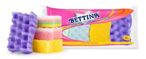 Bettina 4 Piece Multipack Bath & Shower Sponges - Bath,Shower,Clean,Exfoliate