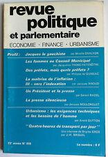 Revue Politique et Parlementaire du 03/1971; la maitrise de l'inflation, indexat