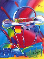 PETER MAX POSTER - ZERO- 18X 24-FACSIMILE SIGNED#105-CRAZY COLORFUL AND BRIGHT