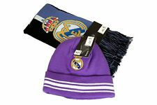 Real Madrid C.F. Official Licensed Product Soccer Scarf Beanie Combo - 04