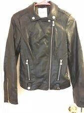 Pull And Bear Womens Faux Leather Jacket Size Small
