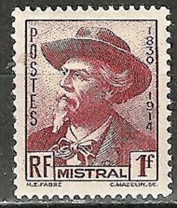 """FRANCE - 1941 ISSUE """"Mistral - Author"""" #417 MLH Early 20th Century Stamp WYSIWYG"""