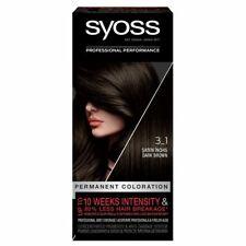 Syoss Professional Performance 3-1 DARK BROWN Permanent Hair Dye Color