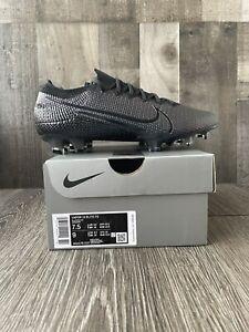 Nike Mercurial Vapor 13 Elite FG Soccer Cleats Size 7.5 Blackout AQ4176-010