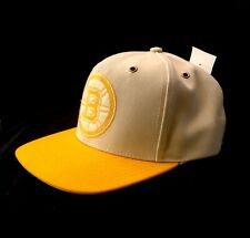 Boston Bruins Adidas NHL One Size Beige and Yellow Snapback Cap Hat  Men's Women