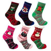 Enfants Nouveauté Noël Polaire Doublé Chaussettes Chaussons Unisexe Vêtements