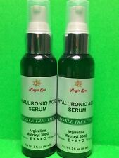 2*2oz Hyaluronic Acid Serum Face Vitamin E Vitamin A Vit C Argireline Face Eyes.
