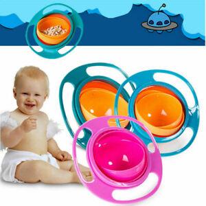 Magic Infants No Spill Feeding Toddler Kids Gyro 360 Rotating Portable Bowl Baby