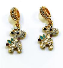 DIY Giraffe European Pendant CZ Crystal Charm Beads Fit Necklace Bracelet NEW