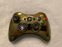 Genuine Xbox 360 Gold Chrome Limited Edition Wireless Controller rare! Untested