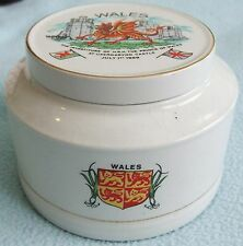Vintage CROWN CLARENCE Ironstone WALES Commemorative Crested Ware BOX