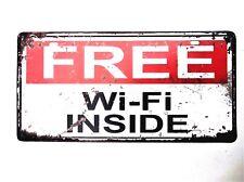 FREE WIFI INSIDE METAL TIN SIGNS pub bar garage retro kitchen cafe beer garden