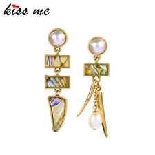 Kiss me Summer Colorful Geometric Shell Drop Earrings for Women Jewelry ed01326