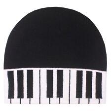 COOL Piano Keys Black White Beanie Hat Skull Cap Music Fan