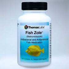 Fish Zole 60 tablets 250 mg Thomas Labs Aquarium Infections Treatment