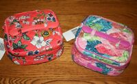 Vera Bradley ICONIC JEWELRY CASE organizer travel bag holder pouch  4 tote