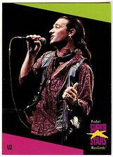 U2 #142 ProSet Super Stars MusiCards 1991 Trade Card (C376)