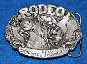 Rodeo America's #1 Sport Belt Buckle, Complete & Functional