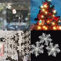 30PCS Christmas White Snowflakes Decorations Xmas Tree Party Ornaments UK