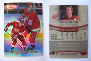 1999-00 Topps Gold Label #22 Sergei Fedorov 1/1 class 1 red 1 of 1 red wings
