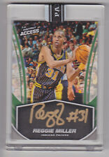 REGGIE MILLER 2017 Panini Instant Access NBA On Card Auto Green #D 5/10 Pacers