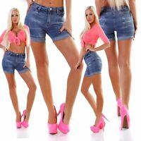 10056 Damen Capri-Jeans Bermuda Short kurze Hose Hot Pants Shorts Panty Shorts.