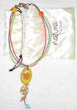 NATURE BIJOUX collier estival avec pendentif long TBE
