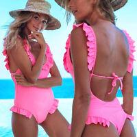 Brazilian Bathing Suit Monokini Swimwear Swimsuit Padded Bikini One Piece Beach