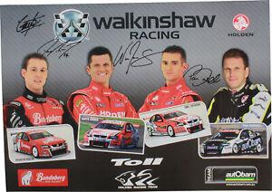 Signed 2009 Walkinshaw Racing Poster Holden Commodore VE Tander Reynolds