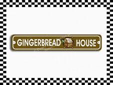 (SA-1566) Gingerbread House Christmas Holiday Street Sign 3x18 Metal Plaque
