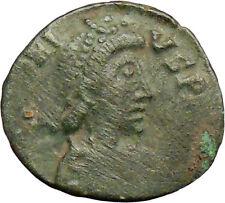 Honorius w Kneeling suppliant  395AD Ancient Roman Coin Very Rare  i29296