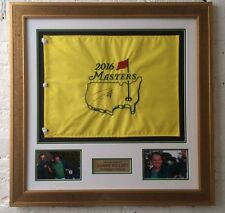 Danny WILLETT SIGNED Framed 2016 MASTERS FLAG Autograph With Proof AFTAL COA