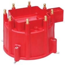 MSD Distributor Cap 84111; Pro-Billet Red HEI (Male) for Chevy V8