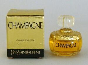 CHAMPAGNE (YVRESSE) YSL EAU DE TOILETTE 4 ml 0.10 Floz MINI SIZE ORIGINAL 1993Ed