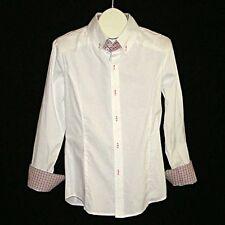 New DABLJU BY JINIY Funky White Plaid-Lined Shirt Mens M NWT