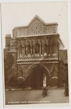 Norfolk postcard - Ethelbert Gate, Norwich Cathedral - RP - P/U