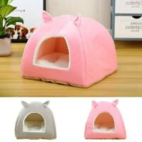 Pet Nest House Puppy Cat Dog Bed Sleeping Cushion Cave Warmer Cute Kennel Basket