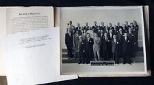 IBM 1964 ENDICOTT NY Customer Executive Class black & white group photograph IDs