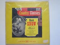 HANK SNOW Country classics ten inch lp