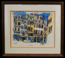 "Bill Olendorf ""Geneva"" Original Lithograph 10.25x12.75"" Signed/Numbered/Framed"