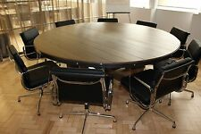 8,10,12,14 Seater Round Industrial Steel and Oak Trafalgar Dining/Mtg Table