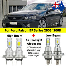 4x Headlight Globes For Ford Falcon BF Series 2005-2008 High Low beam LED Bulbs