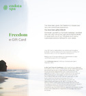 $500 Endota Spa Freedom Gift Card Voucher - Digital Delivery