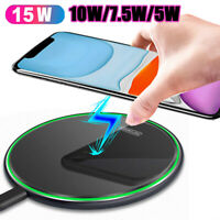 2020 15W Qi Fast Wireless Charger Pad Mat for iPhone 11 Pro Max Samsung Huawei